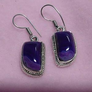 Jewelry - Agate & Silver Earrings